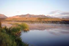 Abaissez le lac Waterton Photographie stock libre de droits