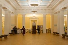 Abaissez le lobby au conservatoire de Moscou Photos stock