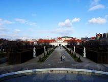 Abaissez le palais de belvédère à Vienne Image libre de droits