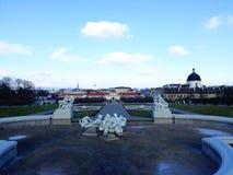 Abaissez le palais de belvédère à Vienne Images stock