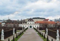 Abaissez le palais de belvédère, Vienne Images stock