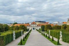 Abaissez le palais de belvédère, Vienne Photos stock