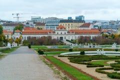 Abaissez le palais de belvédère, Vienne, Autriche Photos stock