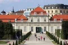 Abaissez le palais de belvédère, Vienne, Autriche Images libres de droits