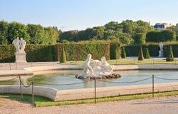 Abaissez le palais de belvédère vienne l'autriche Image libre de droits
