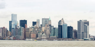 Abaissez le panorama de Manhatta NYC Photo libre de droits