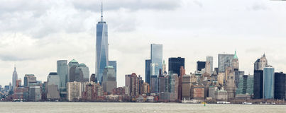 Abaissez le panorama de Manhatta NYC Image libre de droits