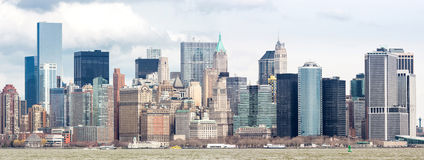 Abaissez le panorama de Manhatta NYC Photographie stock libre de droits
