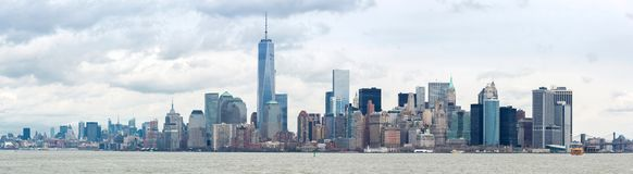 Abaissez le panorama de Manhatta NYC Photographie stock