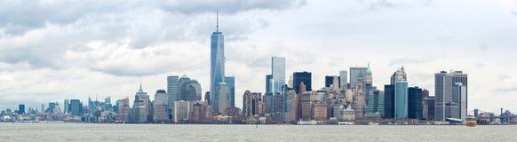Abaissez le panorama de Manhatta NYC Photographie stock