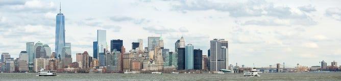 Abaissez le panorama de Manhatta NYC Photos stock