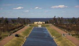 Abaissez le parc et le pavillon dans le palais du congrès national Photographie stock