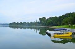 Abaissez le paysage de nature de réservoir de Peirce Photos stock