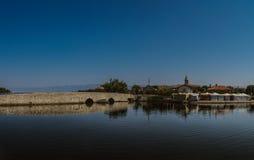 Abaissez le pont dans Nin, Croatie Images libres de droits