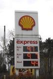 Abaissez le prix d'essence au Danemark Photographie stock libre de droits