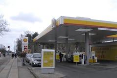 Abaissez le prix d'essence au Danemark Photo libre de droits