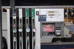 Abaissez le prix d'essence au Danemark Images libres de droits