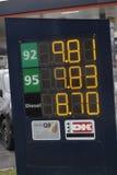 Abaissez le prix d'essence au Danemark Photographie stock
