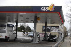 Abaissez le prix d'essence au Danemark Image libre de droits