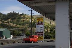 Abaissez le prix du gaz dans Juliaette le comté de Latah Photo stock