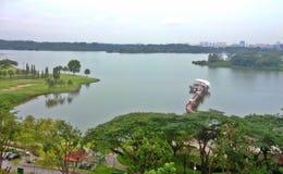 Abaissez le réservoir de Seletar Photographie stock