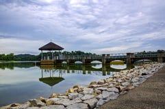 Abaissez le réservoir Singapour de Peirce Images libres de droits