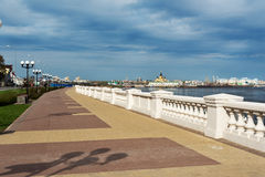 Abaissez le remblai de la Volga dans Nijni-Novgorod Photo stock