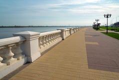 Abaissez le remblai de la Volga dans Nijni-Novgorod Photographie stock