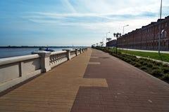 Abaissez le remblai de la Volga dans Nijni-Novgorod Photos stock