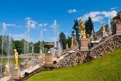 Abaissez le stationnement du Peterhof Image stock
