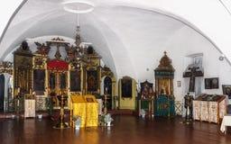 Abaissez le temple d'église de la résurrection dans le village Selco-karélien Photo libre de droits