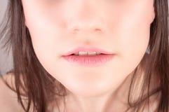 Abaissez le visage d'un jeune femme Photographie stock libre de droits
