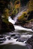 Abaissez les automnes - automne/cascade - parc d'état de Letchworth - New York Photo stock
