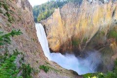 Abaissez les automnes dans Grand Canyon du Yellowstone Photos libres de droits