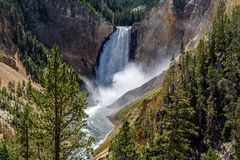 Abaissez les automnes dans Grand Canyon du Yellowstone dans Yellowston Photos stock