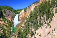 Abaissez les automnes du fleuve de Yellowstone Photographie stock libre de droits