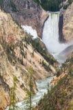 Abaissez les automnes du Yellowstone Photo stock