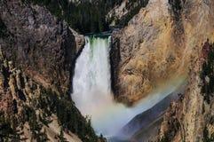 Abaissez les automnes du Yellowstone Photographie stock