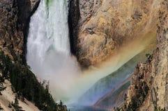 Abaissez les automnes du Yellowstone Photo libre de droits