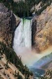 Abaissez les automnes du Yellowstone Images libres de droits