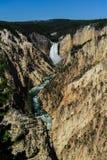Abaissez les automnes du Yellowstone Images stock
