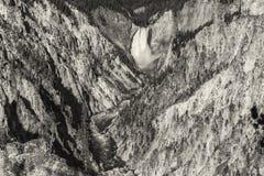 Abaissez les automnes en gorge grande du Yellowstone Photo libre de droits