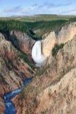 Abaissez les automnes et la rivière de Yellwostone Photos stock