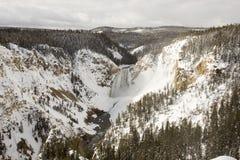 Abaissez les automnes et la rivière Yellowstone chez Grand Canyon de Yellowstone Photos libres de droits