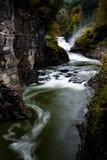 Abaissez les automnes et le canyon au parc d'état de Letchworth - la cascade et tombent/Autumn Colors - New York Image stock