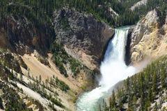 Abaissez les automnes la rivière Yellowstone Photographie stock