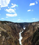 Abaissez les automnes, parc national de Yellowstone Photos libres de droits