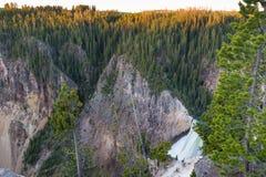 Abaissez les automnes, parc national de Yellowstone Photographie stock libre de droits