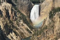 Abaissez les automnes, parc national de Yellowstone, Wyoming Image stock
