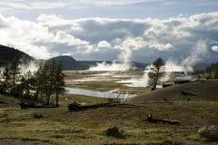 Abaissez les bassins de geyser Image libre de droits